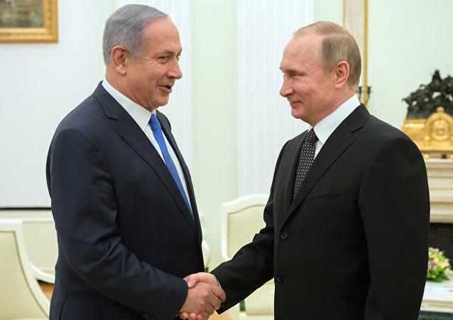 Primer ministro israelí, Benjamín Netanyahu, y presidente de Rusia, Vladímir Putin