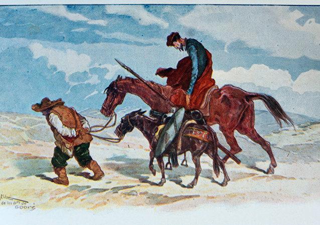 Ilustración de la obra del Quijote