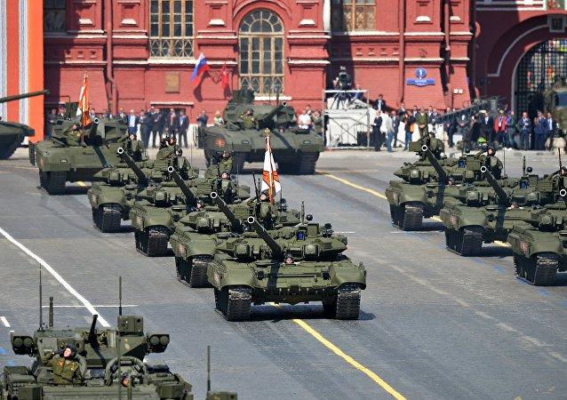 Desfile Militar en la Plaza Roja de Moscú del 2015