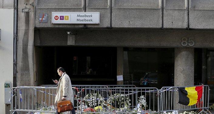 La estación de metro Maelbeek, Bruselas (archivo)