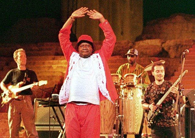 Papa Wemba, el rey de la rumba congoleña (archivo)