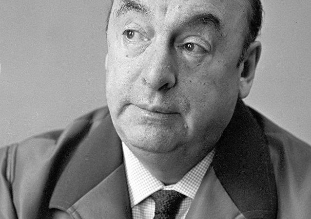 El poeta chileno Pablo Neruda en Moscú
