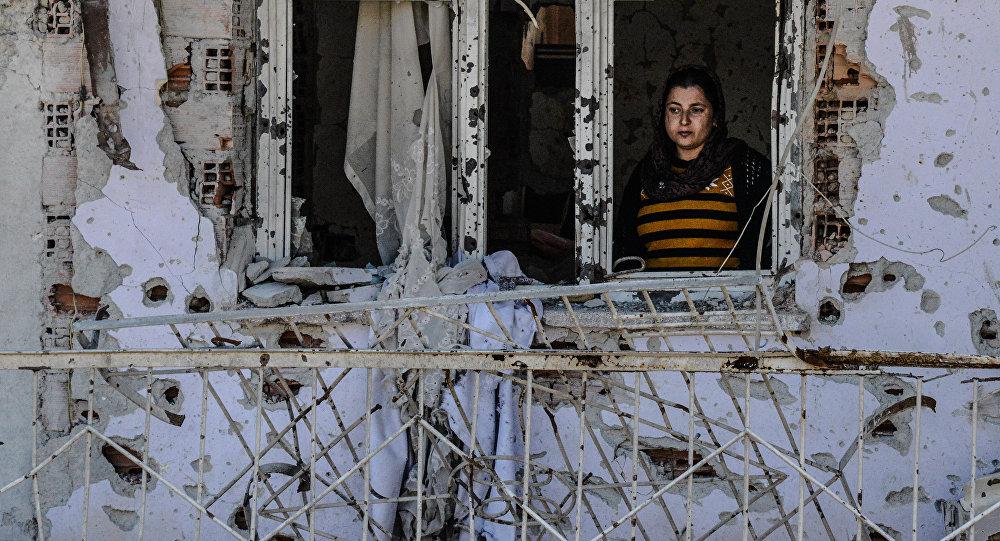 Una residente de la ciudad turca de Cizre