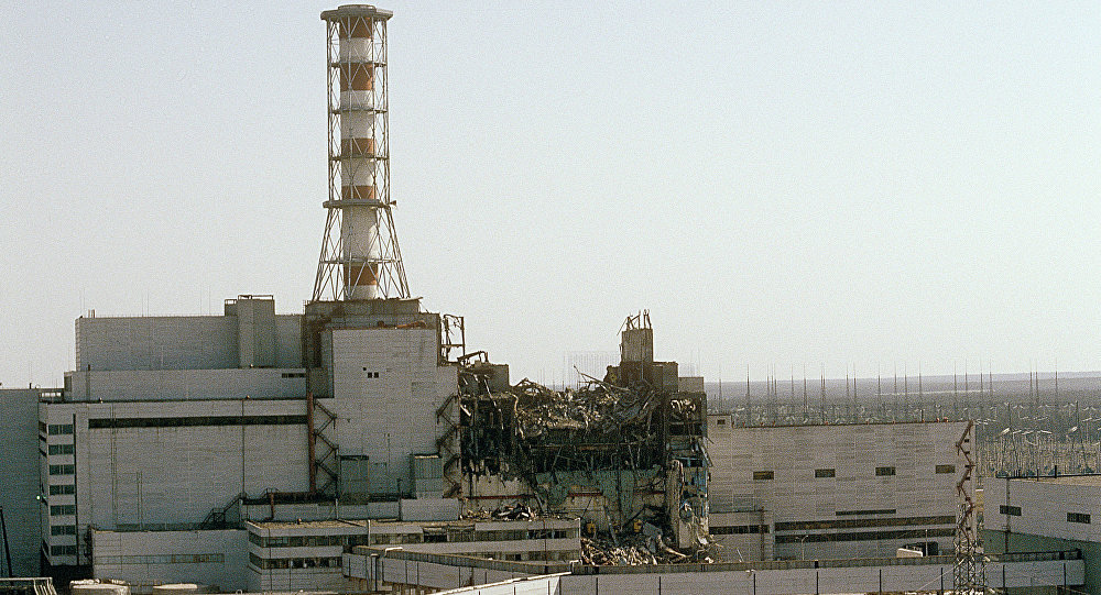 La central nuclear de Chernóbil destruida (Archivo)