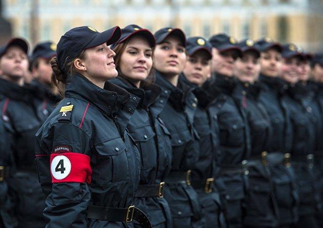 El primer ensayo del desfile del Día de la Victoria en San Petersburgo