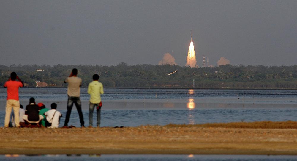 El lanzamiento del satélite de navegación indio (archivo)