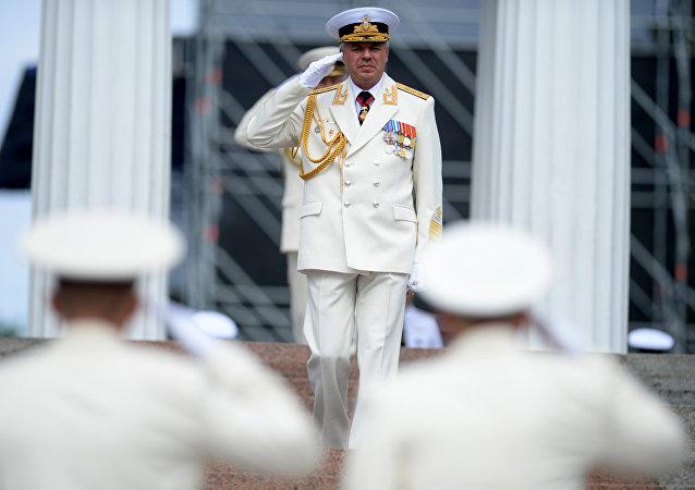 Almirante Alexandr Vitko, comandante de la Flota del mar Negro