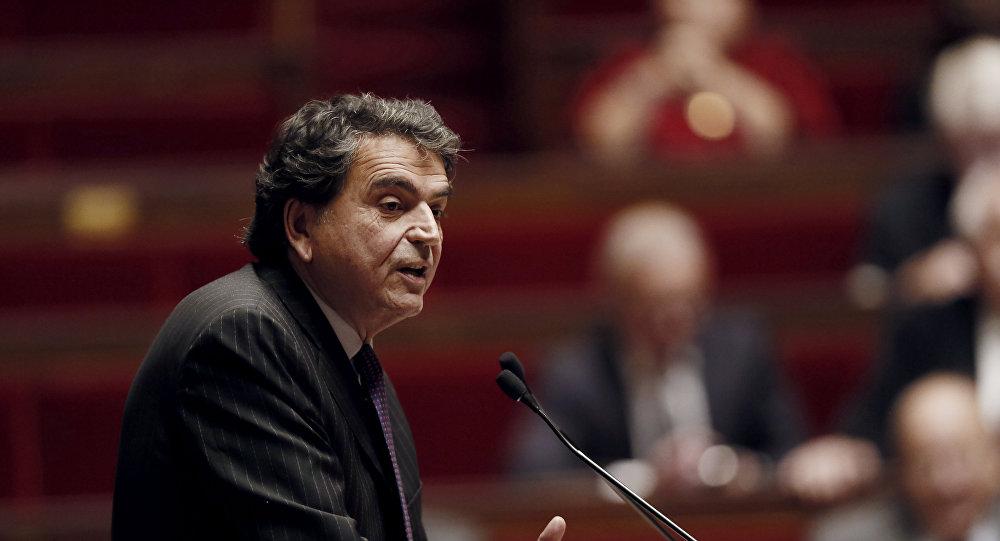 Lellouche, miembro de la Comisión de Asuntos Exteriores de la Asamblea Nacional francesa habla durante un debate el 28 de Noviembre de 2014