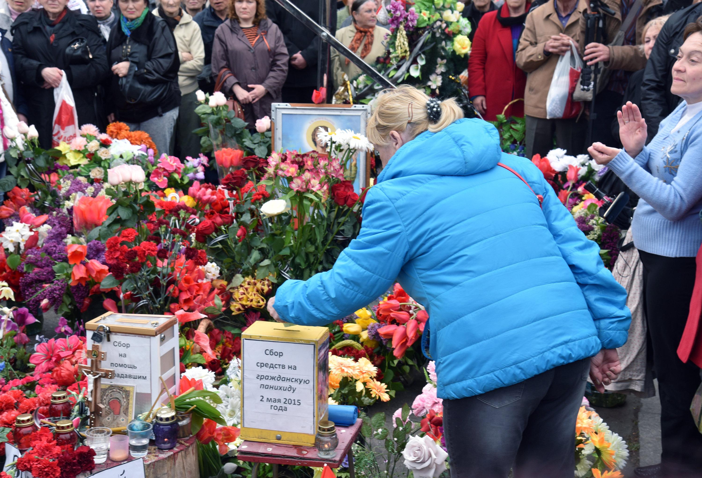 Homenaje a las víctimas del incendio en la Casa de los Sindicatos de Odesa (archivo)