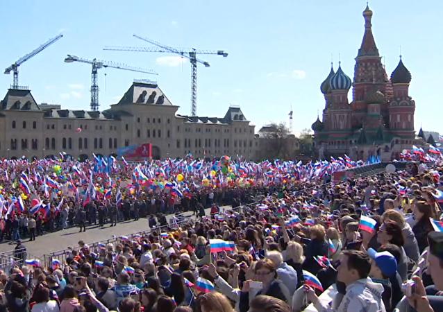 Manifestación del Primer de Mayo, Rusia