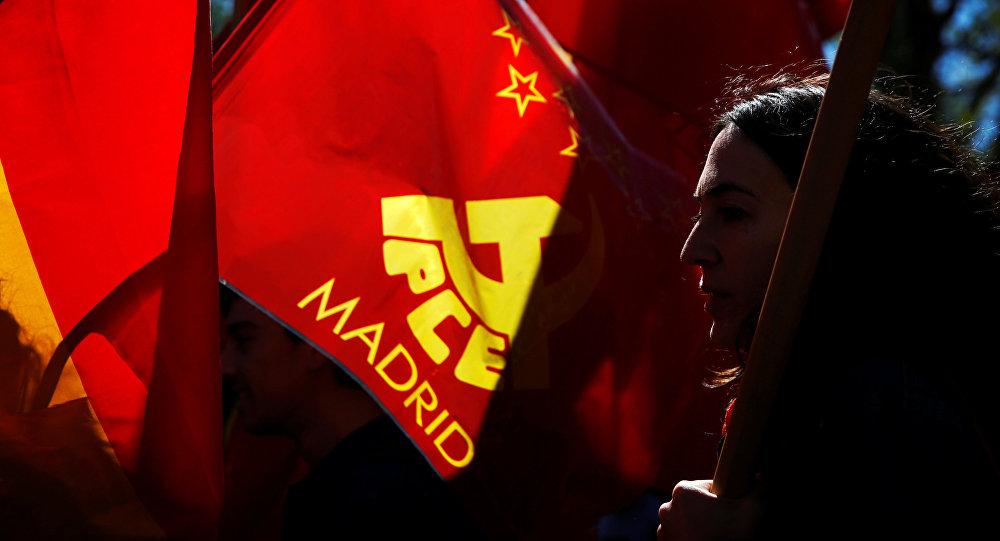 Simpatizantes del partido comunista en Madrid