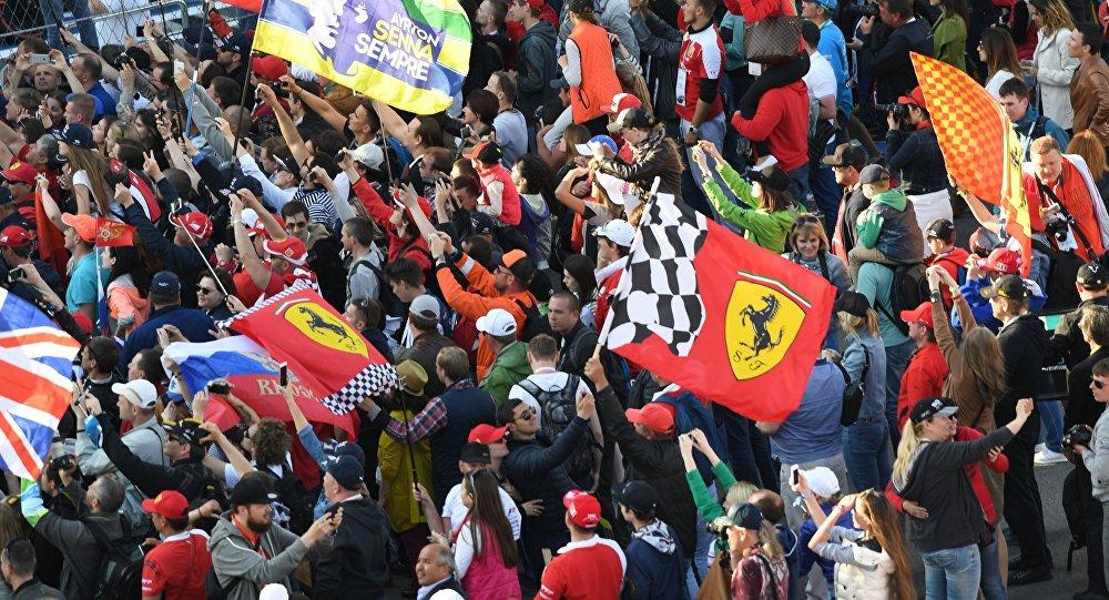 Los hinchas durante el Gran Premio de la F1 en Sochi
