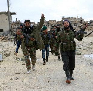 Los combatientes de la oposición armada siria (archivo)