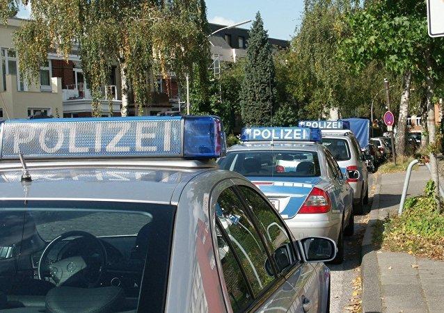 Patrulleros de la policía alemana