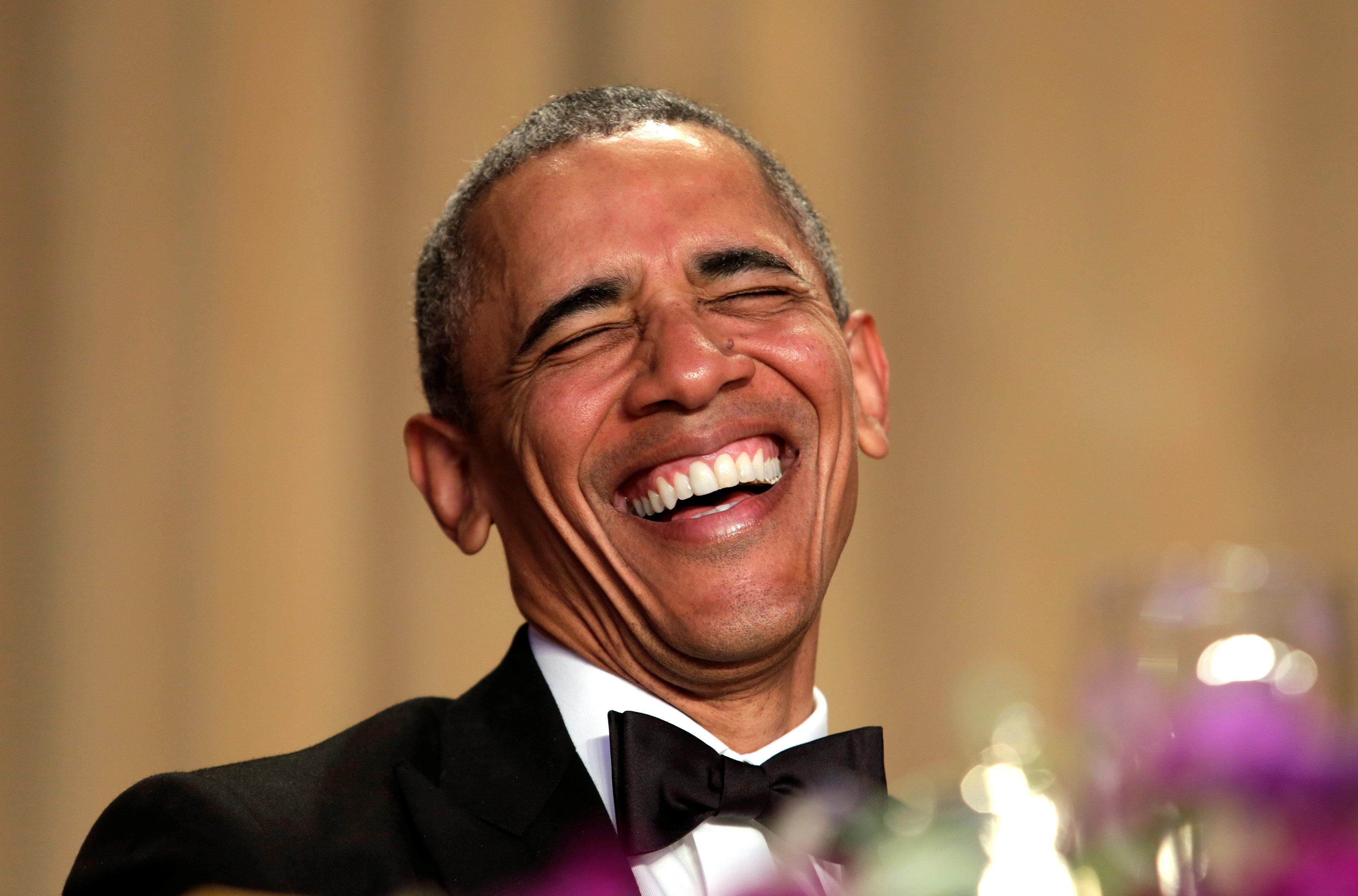 El presidente Obama en la última cena anual con la Asociación de Corresponsales de la Casa Blanca