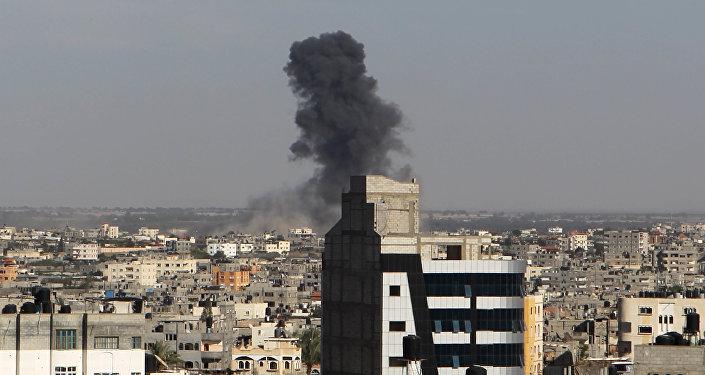 Bombardeo aéreo por el Ejército israelí en la Franja de Gaza (archivo)