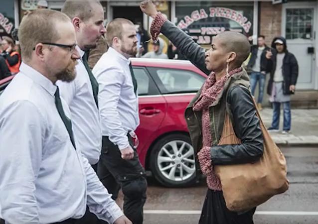 Tess Aspluno enfrenta a los neonazis en Suecia