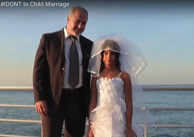 Un matrimonio infantil en Líbano