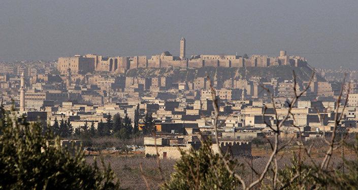 La ciudad de Alepo, Siria