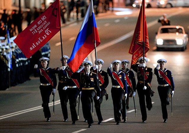 Ensayo del desfile de la Victoria en Vladivostok