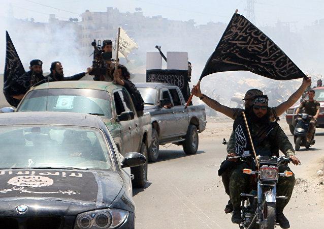 Militantes del grupo terrorista Frente Al Nusra