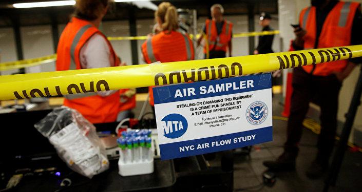 Empleados del DHS en el Metro de Nueva York
