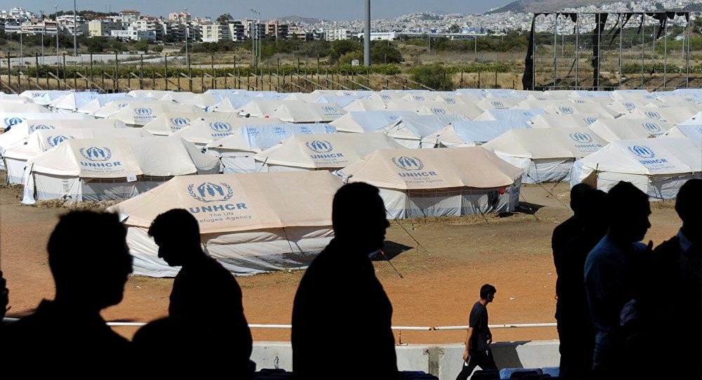 Campo de refugiados en Europa (archivo)