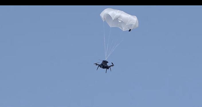 Un paracaídas para los drones