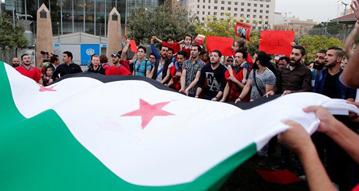 Los partidarios de la oposición siria