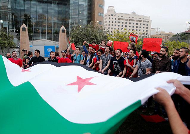 Los partidarios de la oposición siria (archivo)