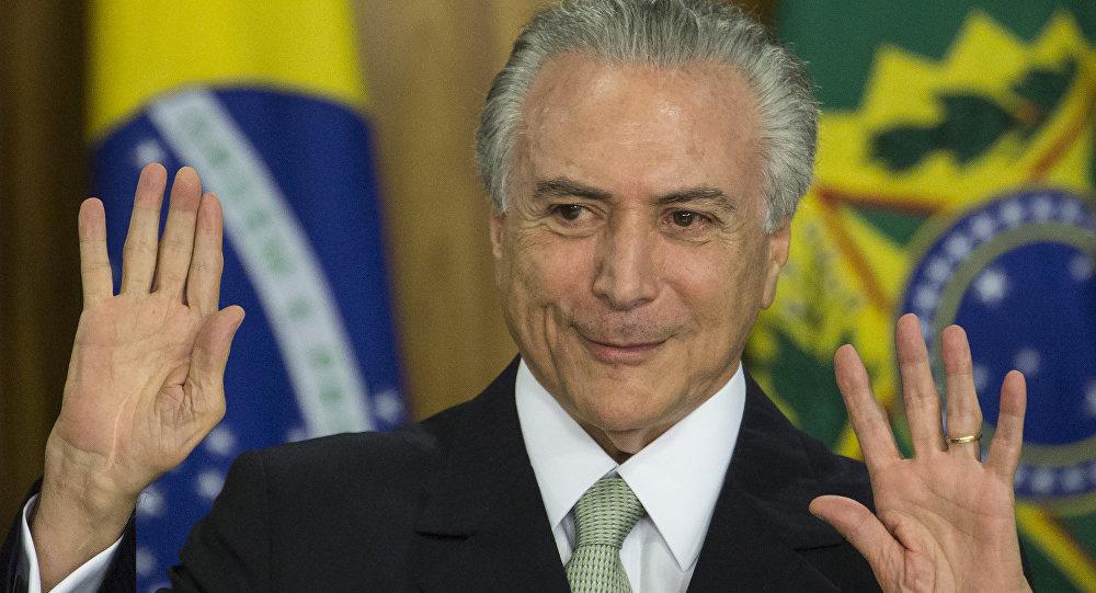El presidente interino de Brasil Michel Temer
