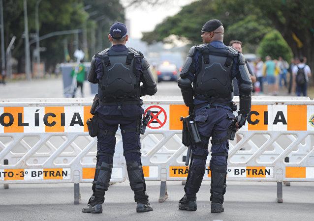 Los policías en Brasilia (archivo)