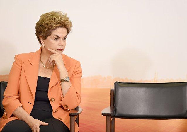 La presidenta de Brasil Dilma Rousseff