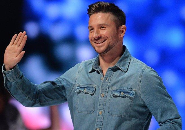 Serguéi Lazarev, el concursante ruso, durante el ensayo final de Eurovisión 2016