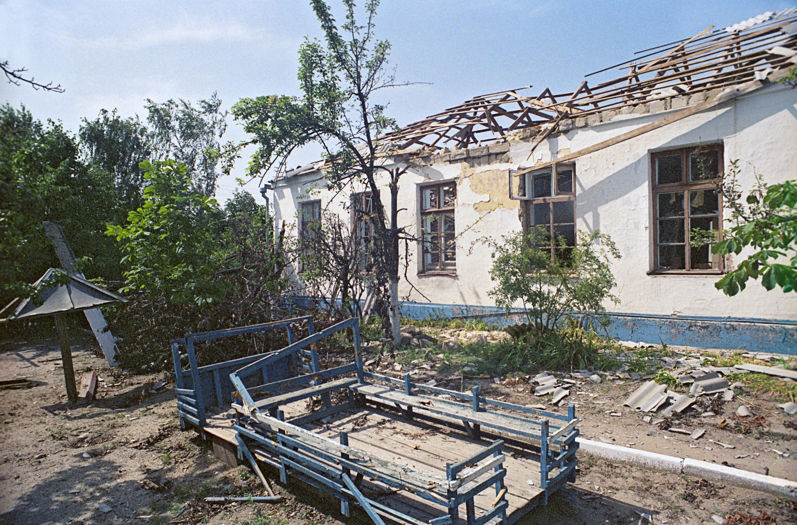 Parvulario destruido en Transnistria