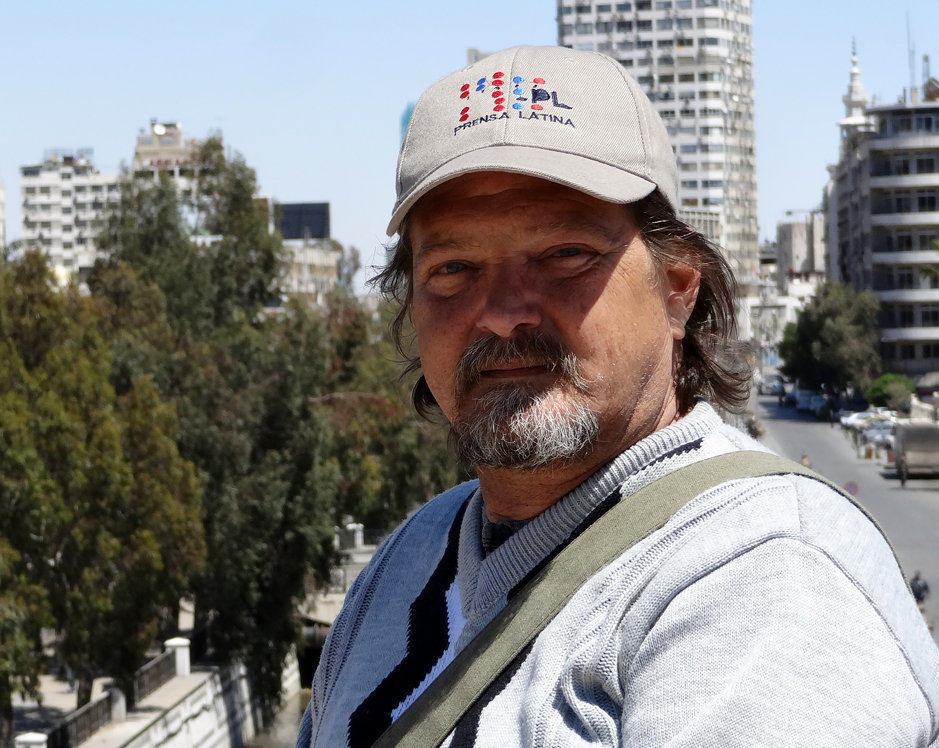 Miguel Fernández, corresponsal cubano, en Damasco, Siria