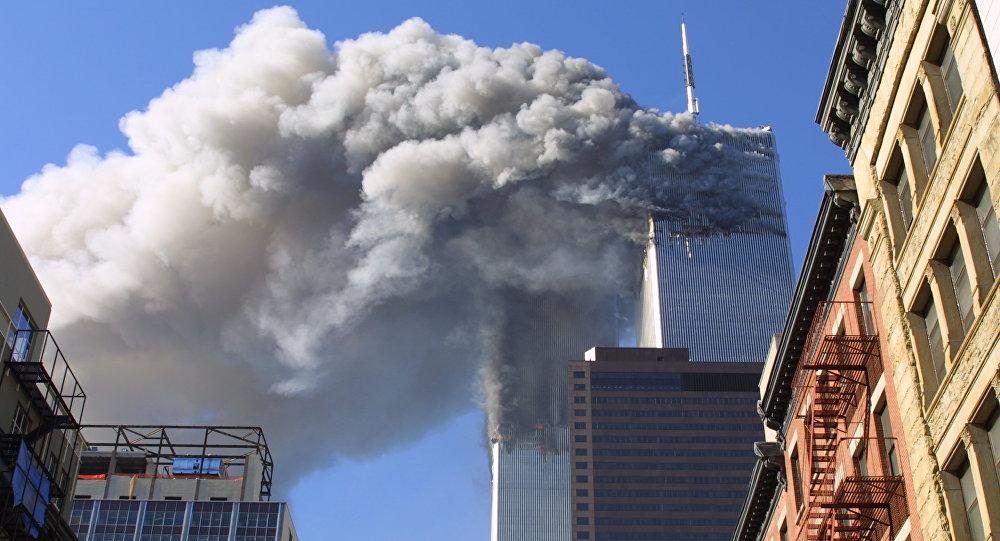Las Torres Gemelas de Nueva York durante el ataque del 11 de septiembre de 2001