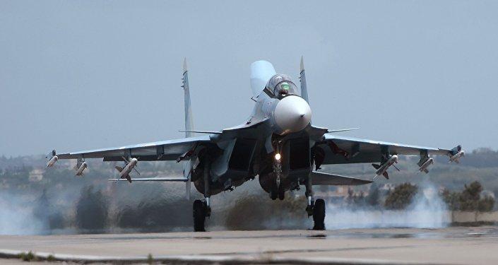 Caza ruso Su-30 en Siria