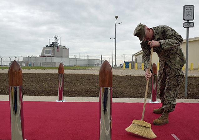 Personal americano en la base del sistema de defensa antimisiles 'Aegis Ashore' en Rumania
