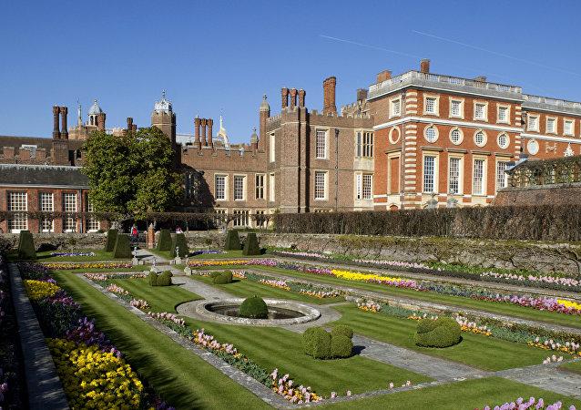 Uno de los jardines del Hampton Court