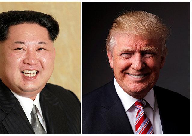 Kim Jong-un, líder de Corea del Norte y Donald Trump, presidente electo de EEUU
