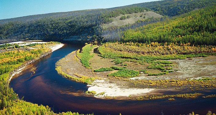 Uno de los afluentes del río Lena en Yakutia