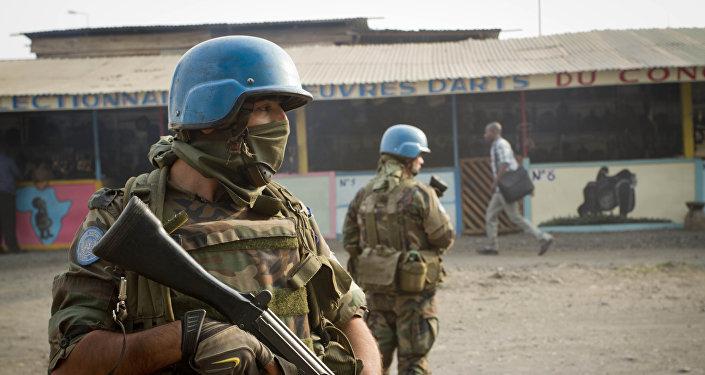 Personal militar uruguayo de las Naciones Unidas para el mantenimiento de la paz (archivo)