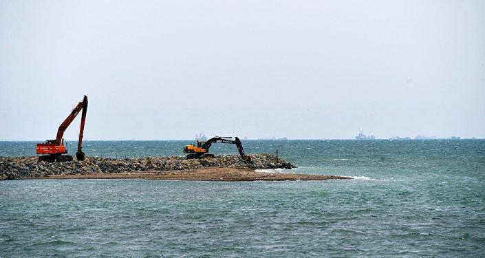 La construcción del puente de Kerch en Crimea