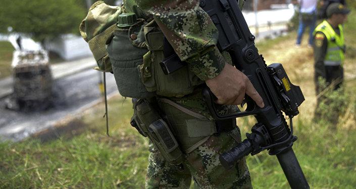Policía colombiana