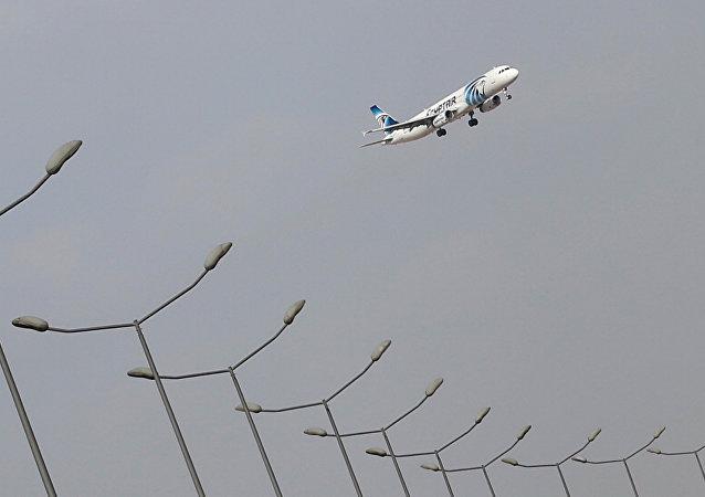 Un avión de EgyptAir