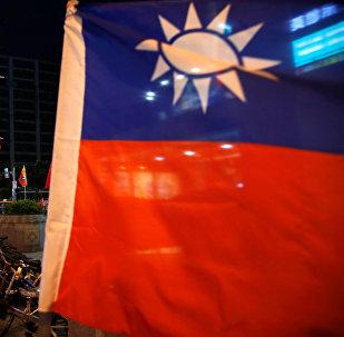 Banderas de Taiwán y China