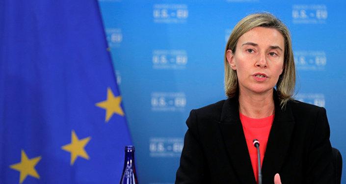 Federica Mogherini, jefa de la diplomacia europea (archivo)