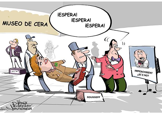 'Impeachment' en el museo de cera