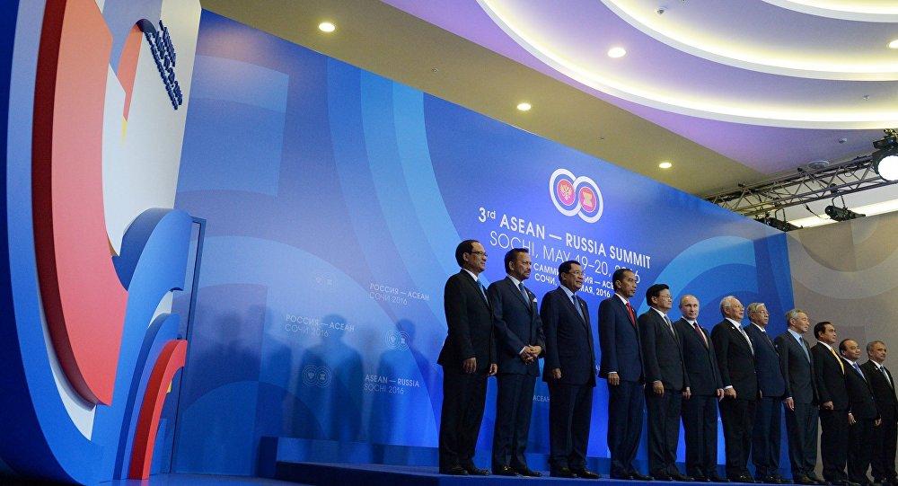 Los jefes de las delegaciones de la cumbre Rusia-ASEAN (archivo)